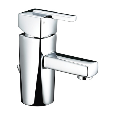 Bristan Qube Basin Mixer With Pop-Up Waste - QU BAS C - QUBASC