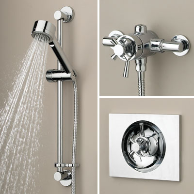 Bristan Rio Recessed/Surface Mounted Mini Shower Valve with Riser - RO SHUAR C - ROSHUARC - DISCONTINUED