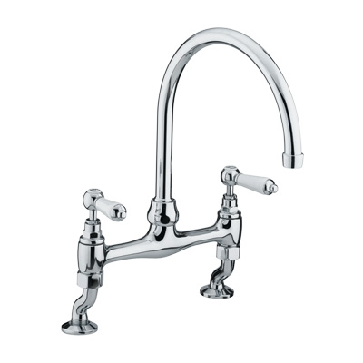 Bristan Renaissance Deck Sink Mixer Chrome Plated - RS DSM C - RSDSMC