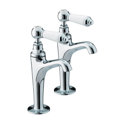 Bristan Renaissance High Neck Pillar Taps Chrome - RS HNK C - RSHNKC