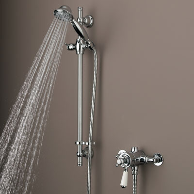 Bristan Regency Dual Control Thermostatic Shower and Adjustable Riser - R SHXAR C - RSHXARC