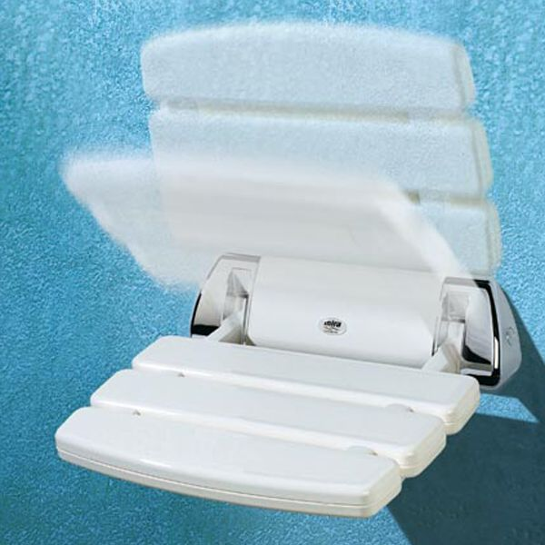Mira Folding Shower Seat White/Chrome
