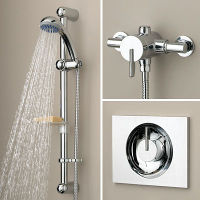 Bristan Sonique Thermostatic Recessed/Surface Mounted Mini Shower Valve with Riser - SOQ SHUAR C - SOQSHUARC - SOLD-OUT!!