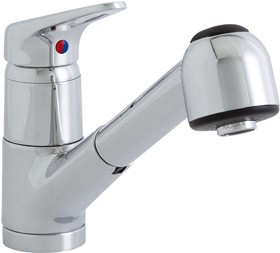 Astracast Finesse Pull Out Spray Tap Brushed Steel - G67834 - SOLD-OUT!!