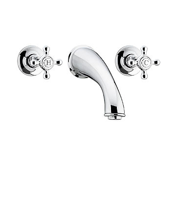 Bristan Trinity Three Hole Wall Mounted Bath Filler - TY 3HBF C - TY3HBFC
