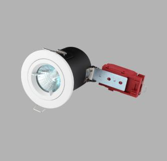 Fire Rated Die-Cast L V Fixed Downlights White - VFRCL02W